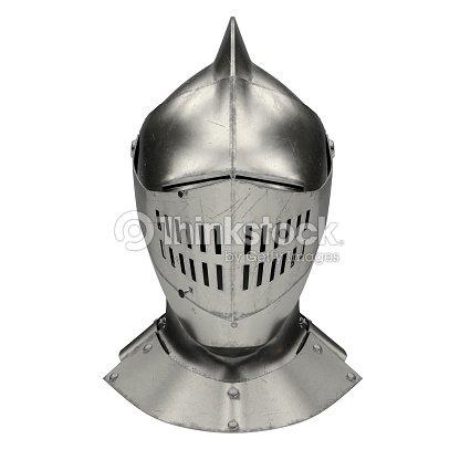 Medieval Knight Armet Helmet : Stock Photo