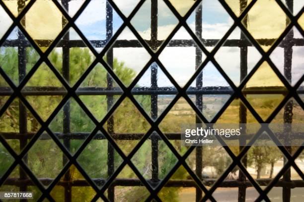 Medieval Leaded Glass Window Montmajour Abbey Arles