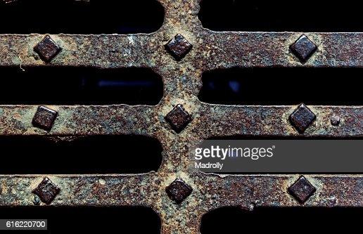 Medieval metal texture : Stock Photo
