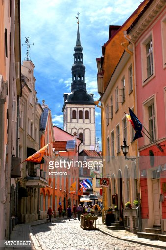 Medieval Old Town in Tallinn Estonia