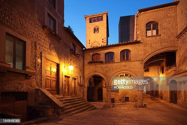 Quartiere medievale di San Pellegrino a Viterbo, Lazio Italia
