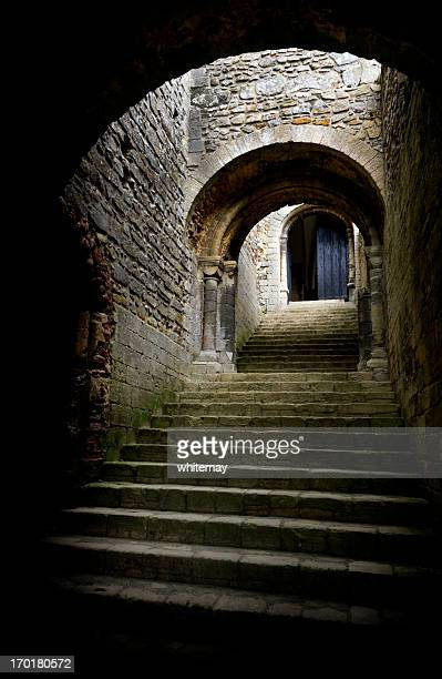 Medieval staircase and door arches