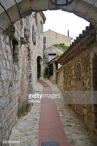 Medieval Streets of Eze : Foto stock