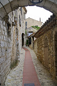 The narrow alleys of Eze