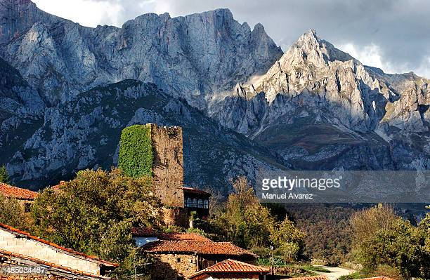 Medieval tower in the middle of the Picos de Europ