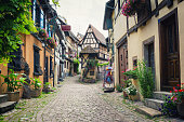 beautiful french village in Alsace