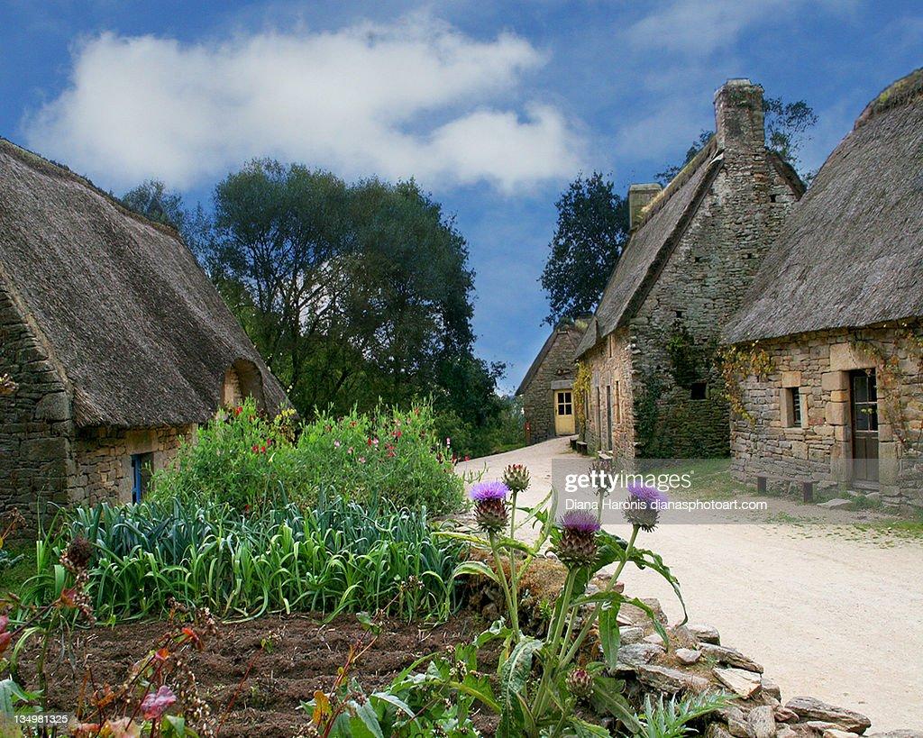 Medieval village in Brittany