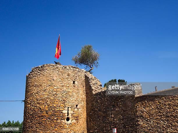 Medieval walls with tower in Palau-Sator, Gerona