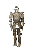 Medievale Armor on white background