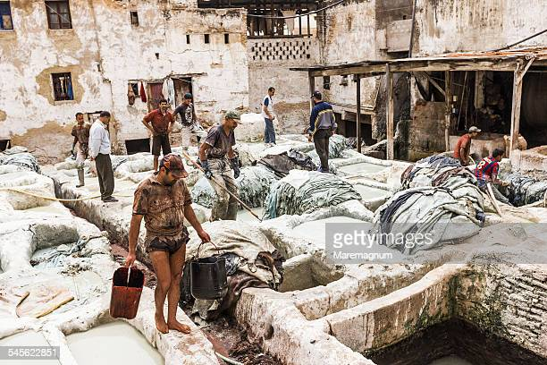 Medina, working at Chouwara Tannery