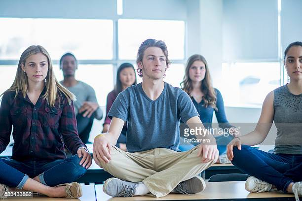 Meditating in Class