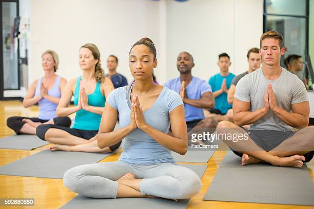 Meditating in Prayer Pose