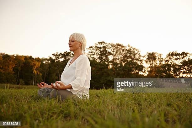 Méditation dans la meadows