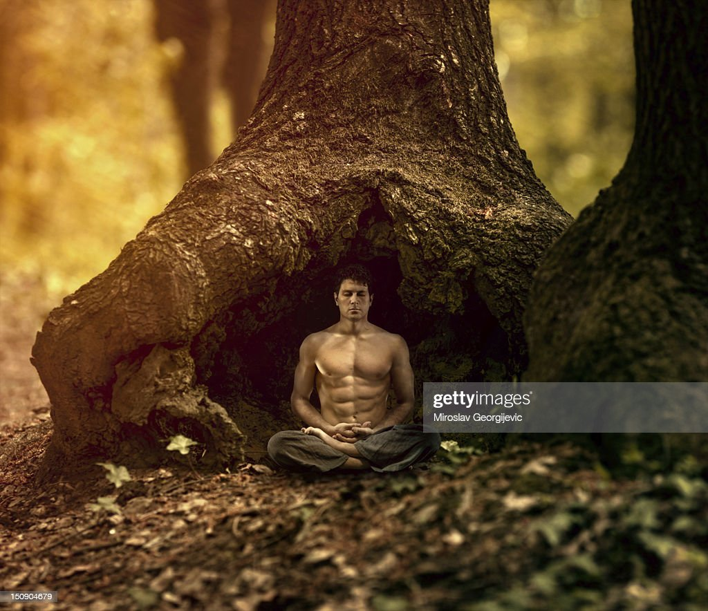 Meditation in the nature : Stock Photo