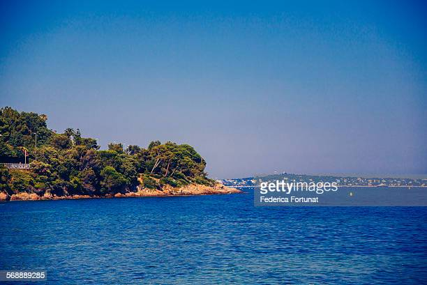 Mediterranean coastline in Cannes