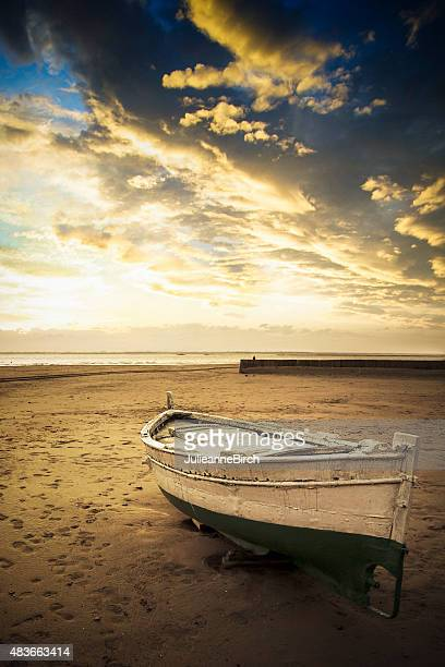 Mediterranean fishing boat on beach