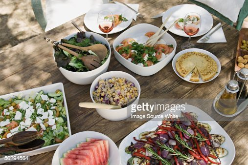 Mediterranean food : Stock Photo
