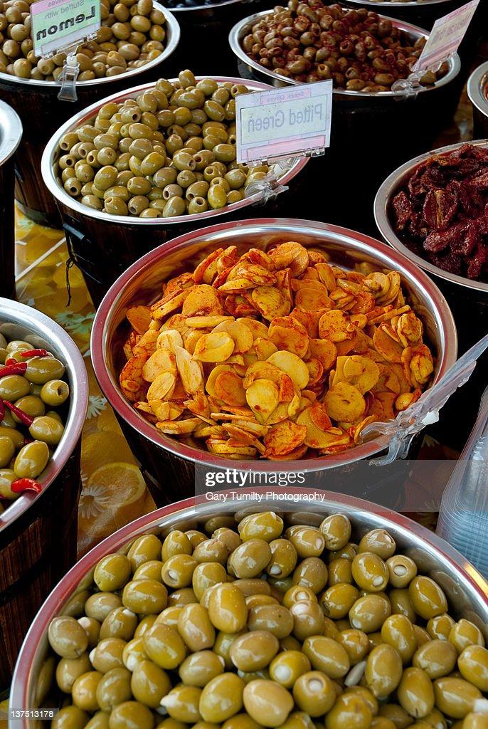 Mediterranean foods : Stock Photo