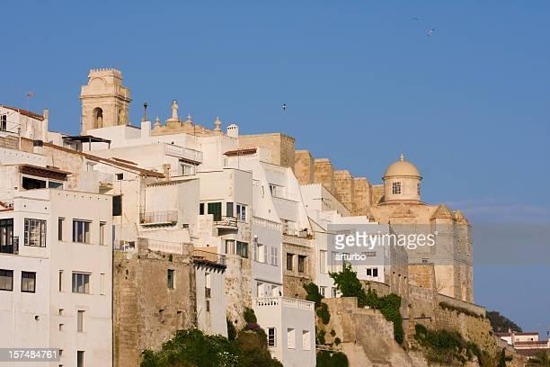Mediterrane mittelalterlichen Blick auf die Stadt