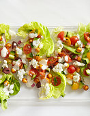 Mediterranean Salad with Chick Peas and Feta