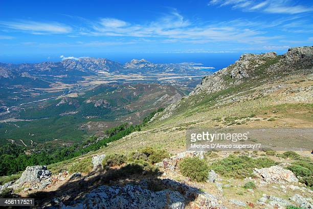 Mediterranean sea from the mountains