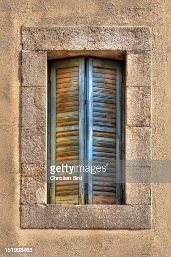Mediterranean Shutter : Stock Photo