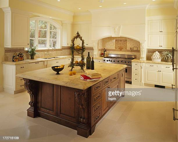 Mediterranean Style Home Kitchen