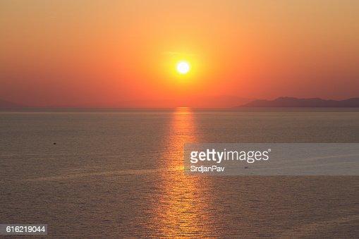Mediterranean sunset : Stock Photo