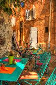Mediterranean terrace in the Marseille city street