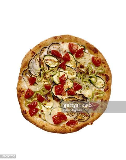 Mediterranean vegetable pizza