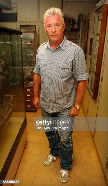 Medium and psychic Derek Acorah during a visit to the Petrie Museum of Egyptian Archaeology in central London