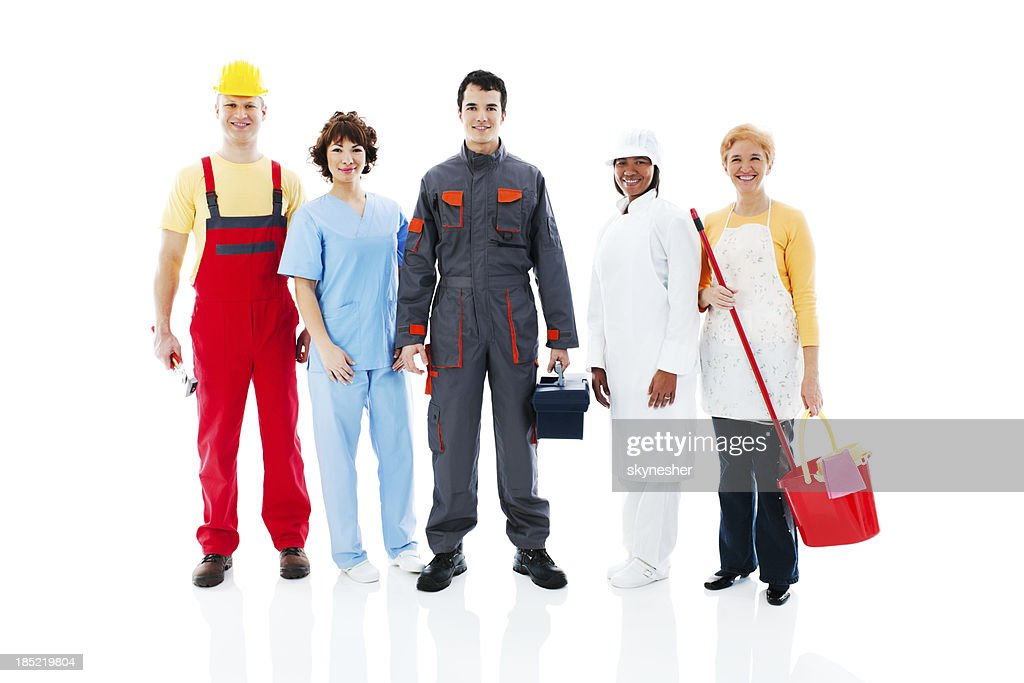 Medium Group of diversity occupations people. : Stock Photo