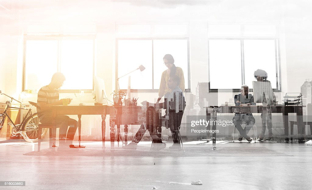 Medley of creative minds : Stock Photo