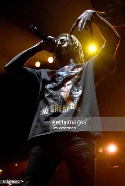 Meechy Darko of Flatbush Zombies performs at Bill Graham Civic Auditorium on July 22 2017 in San Francisco California