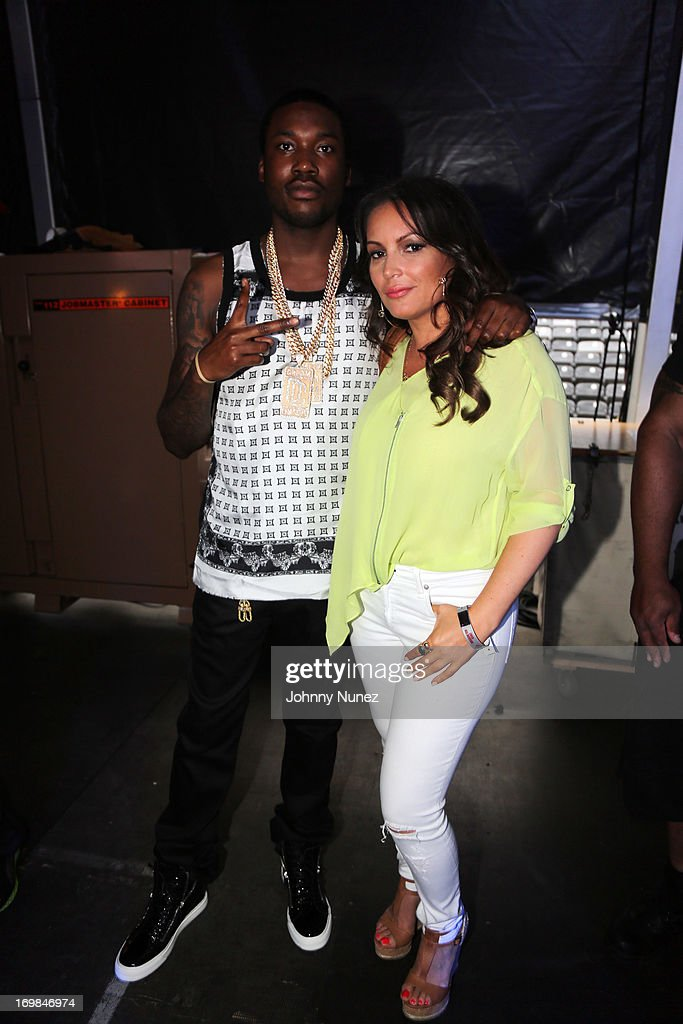 <a gi-track='captionPersonalityLinkClicked' href=/galleries/search?phrase=Meek+Mill&family=editorial&specificpeople=7187702 ng-click='$event.stopPropagation()'>Meek Mill</a> and <a gi-track='captionPersonalityLinkClicked' href=/galleries/search?phrase=Angie+Martinez&family=editorial&specificpeople=664057 ng-click='$event.stopPropagation()'>Angie Martinez</a> attend HOT 97 Summer Jam XX at MetLife Stadium on June 2, 2013 in East Rutherford, New Jersey.