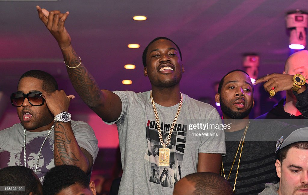 BL, <a gi-track='captionPersonalityLinkClicked' href=/galleries/search?phrase=Meek+Mill&family=editorial&specificpeople=7187702 ng-click='$event.stopPropagation()'>Meek Mill</a> and J Prince Jr attend at Compound on March 9, 2013 in Atlanta, Georgia.