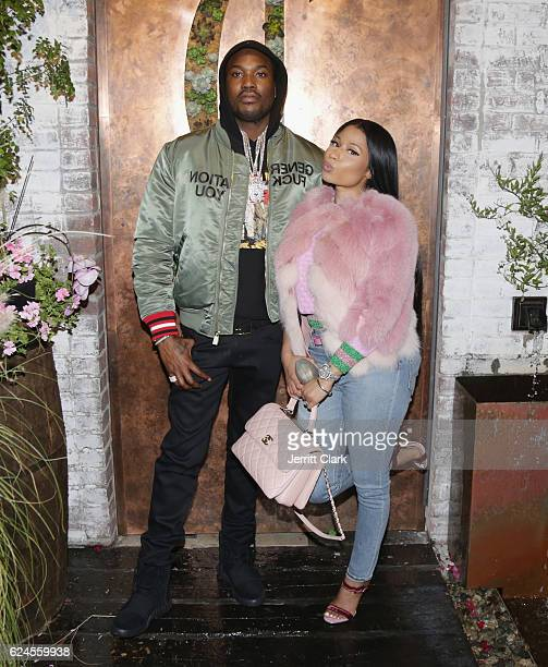 Meek Mill and Nicki Minaj attend DJ Khaled 'The Keys' Book Launch Dinner Presented By Penguin Random House And CIROC on November 19 2016 in Los...