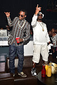 Meek Mill and Sean 'Diddy' Combs attend The Memorial Day Weekend Grand Finale hosted by Meek Mill Teyana Taylor and YG at Prive on May 25 2014 in Las...