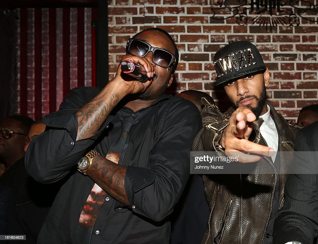 Meek Mill and Swizz Beatz attend House Of Hype Monster Grammy Party at House Of Hype on February 10, 2013 in Los Angeles, California.