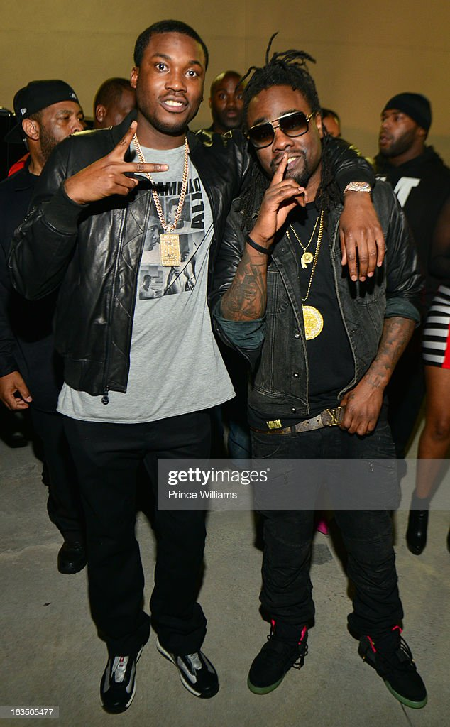 <a gi-track='captionPersonalityLinkClicked' href=/galleries/search?phrase=Meek+Mill&family=editorial&specificpeople=7187702 ng-click='$event.stopPropagation()'>Meek Mill</a> and <a gi-track='captionPersonalityLinkClicked' href=/galleries/search?phrase=Wale+-+Rapper&family=editorial&specificpeople=8770277 ng-click='$event.stopPropagation()'>Wale</a> attend at Compound on March 9, 2013 in Atlanta, Georgia.