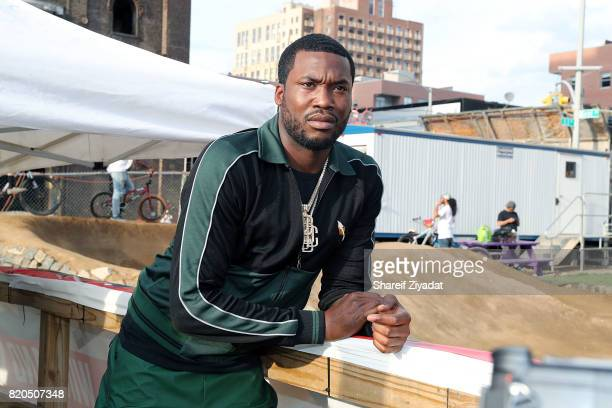 Meek Mill attends Meek Mill 'Wins Losses' Album Release Party at Velosolutions Pumptrack on July 21 2017 in New York City