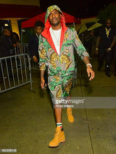 Meek Mill attends Rick Ross's Birthday Bash at XS Lounge on January 23 2017 in Atlanta Georgia