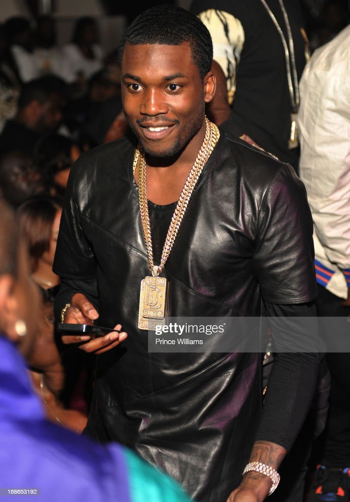 <a gi-track='captionPersonalityLinkClicked' href=/galleries/search?phrase=Meek+Mill&family=editorial&specificpeople=7187702 ng-click='$event.stopPropagation()'>Meek Mill</a> attends the <a gi-track='captionPersonalityLinkClicked' href=/galleries/search?phrase=Meek+Mill&family=editorial&specificpeople=7187702 ng-click='$event.stopPropagation()'>Meek Mill</a> and DJ Drama Birthday Celebration at Velvet Room on May 12, 2013 in Chamblee, Georgia.