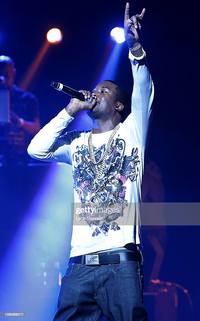Meek Mill performs at Power 106FM Presents CaliChristmas at Gibson Amphitheatre on December 14, 2012 in Universal City, California.