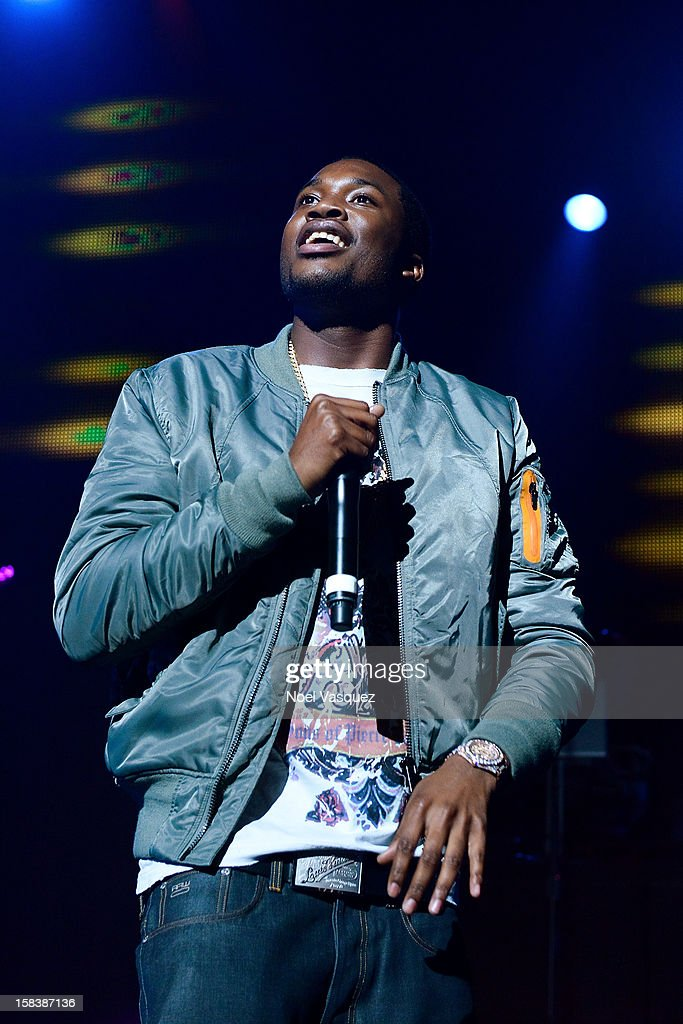 <a gi-track='captionPersonalityLinkClicked' href=/galleries/search?phrase=Meek+Mill&family=editorial&specificpeople=7187702 ng-click='$event.stopPropagation()'>Meek Mill</a> performs at Power 106FM's Cali Christmas at Gibson Amphitheatre on December 14, 2012 in Universal City, California.