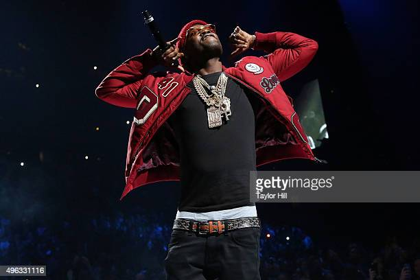 Meek Mill performs during Tidal X 1020 at Barclays Center on October 20 2015 in the Brooklyn borough of New York City