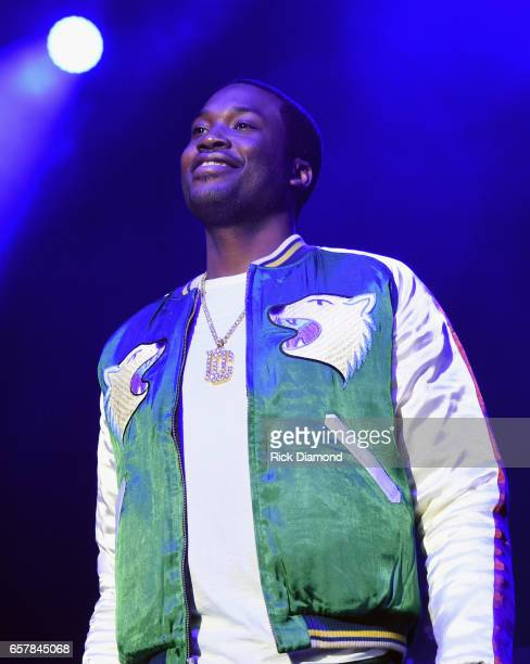 Meek Mill performs during V103 Live Pop Up Concert at Philips Arena on March 25 2017 in Atlanta Georgia