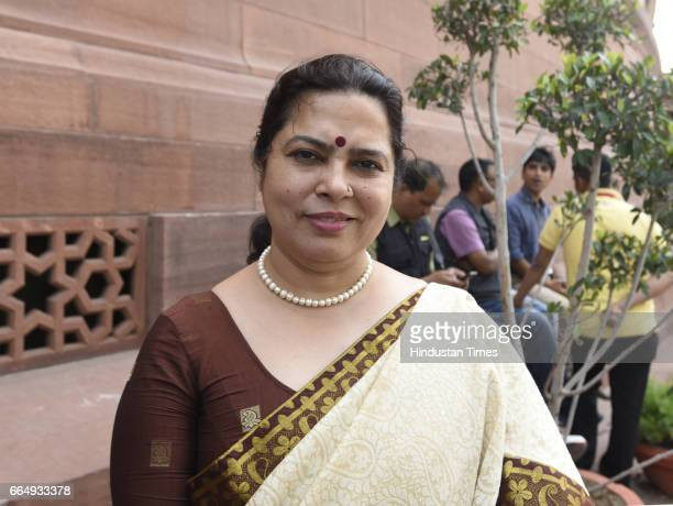 Meenakshi Lekhi attending the Parliament Budget Session on April 5 2017 in New Delhi India Employees suffering injury in industrial accident will now...