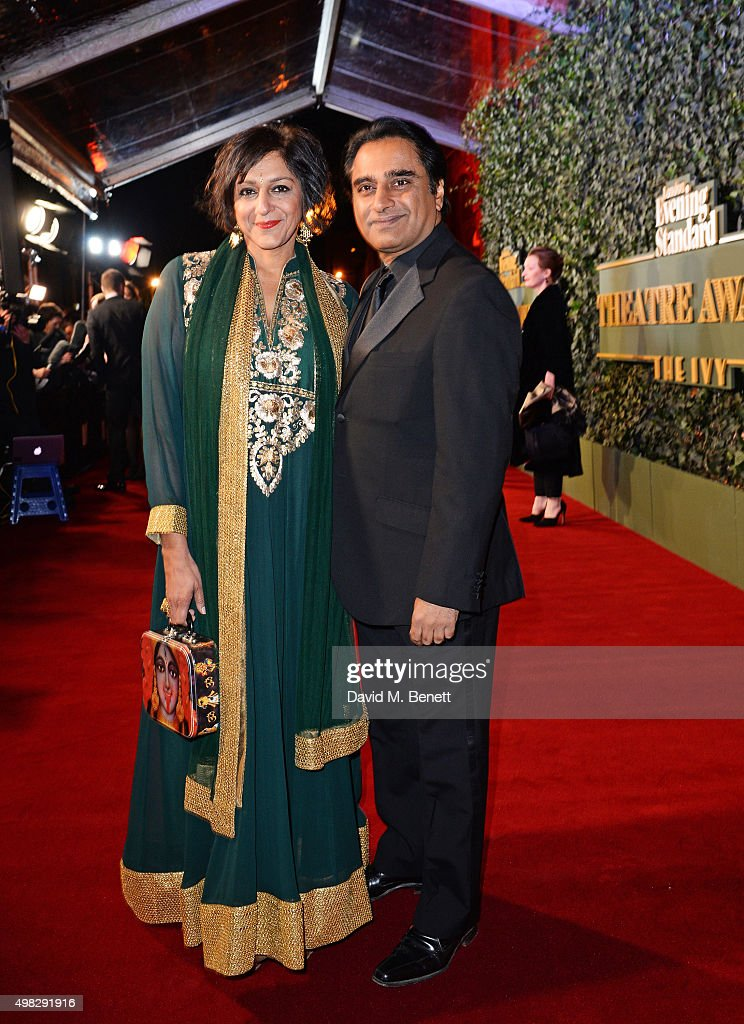 Meera Syal and Sanjeev Bhaskar arrive at The London Evening Standard Theatre Awards in partnership with The Ivy at The Old Vic Theatre on November 22...
