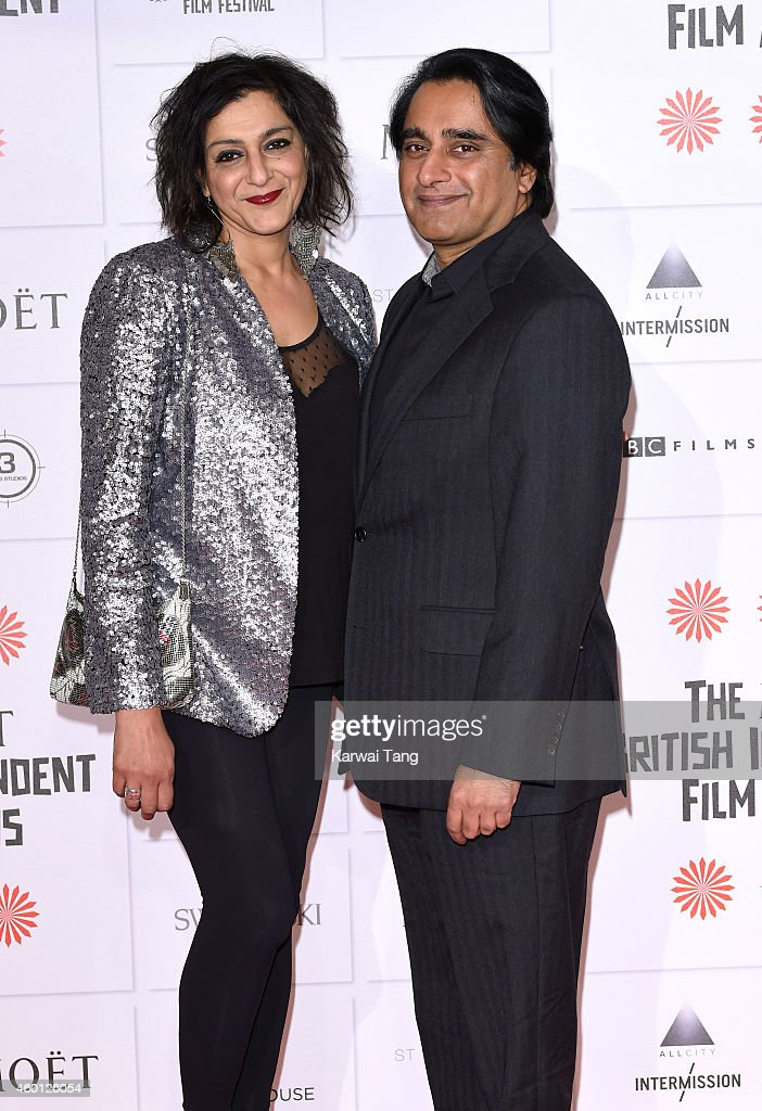 Meera Syal and Sanjeev Bhaskar attend the Moet British Independent Film Awards at Old Billingsgate Market on December 7 2014 in London England